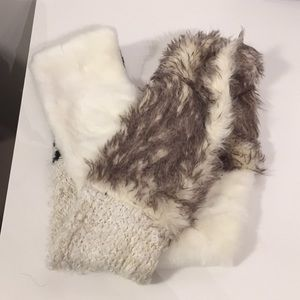 Anthropologie Fur & Knit Infinity scarf